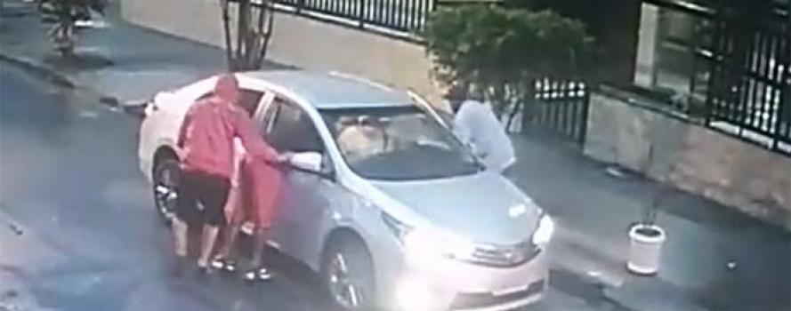 Câmera registra o ataque de bandidos armados em Icaraí