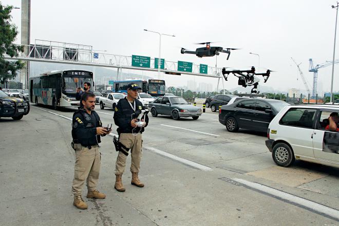 BR-101: drones e carro blindado contra o crime