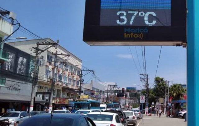 Maricá: Sensação térmica na casa dos 40ºC