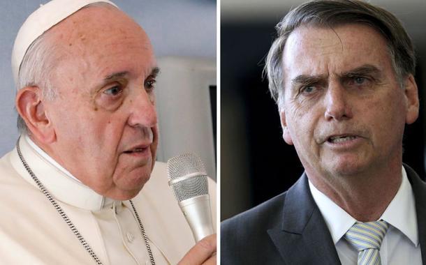 """Bolsonaro ataca o Papa Francisco: """"o papa é argentino, mas Deus é brasileiro"""""""
