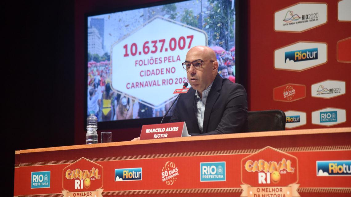 Carnaval Rio 2020 reuniu mais de 10 milhões de pessoas sendo 2,1 milhões de turistas