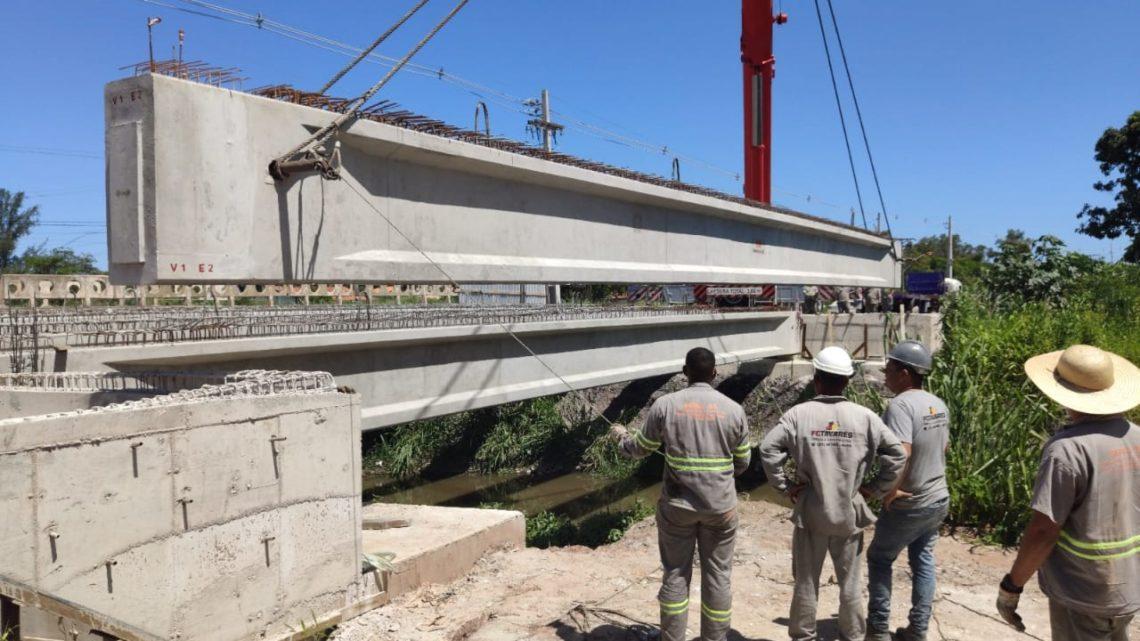Avança construção da nova ponte da Estrada dos Cajueiros