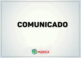 COMUNICADO DA PREFEITURA DE MARICÁ-RJ