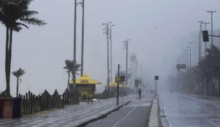 Ciclone passará pelo mar do Rio trazendo ventos gelados a partir de quarta-feira