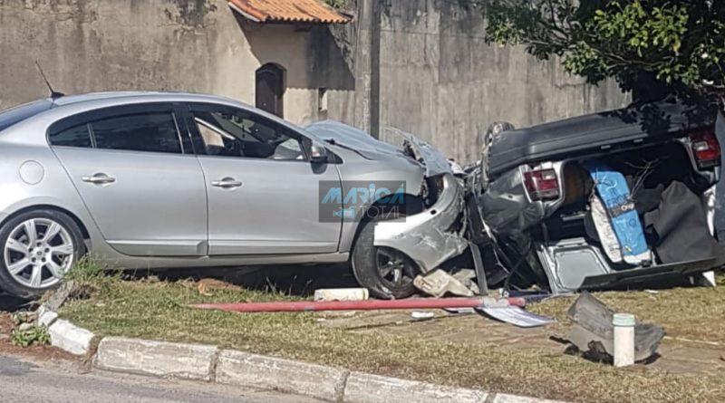 Grave acidente deixa um homem ferido em Itaipuaçu