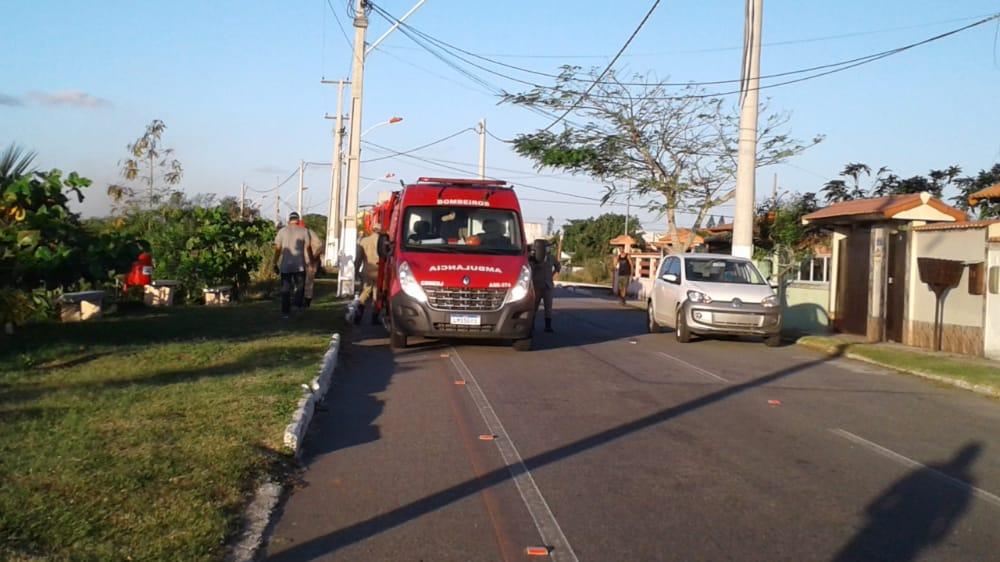 Motociclista se acidenta em Barra de Maricá