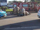 Acidente de moto deixa uma pessoa ferida na RJ 106 em Maricá