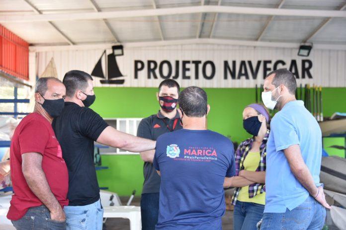Comitiva de esportes náuticos do Flamengo visita Maricá para implementar projetos de remo
