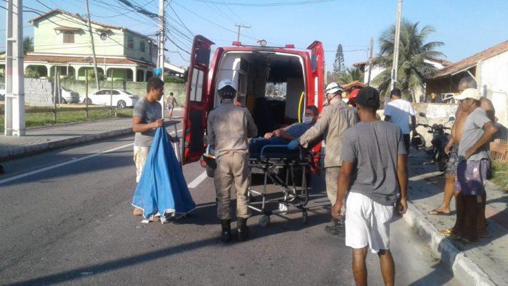 Motociclista atropelar cachorro é fica ferido em Guaratiba