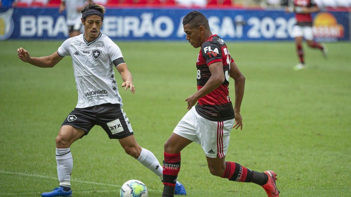 Brasileiro: Flamengo arranca empate com Botafogo no último minuto