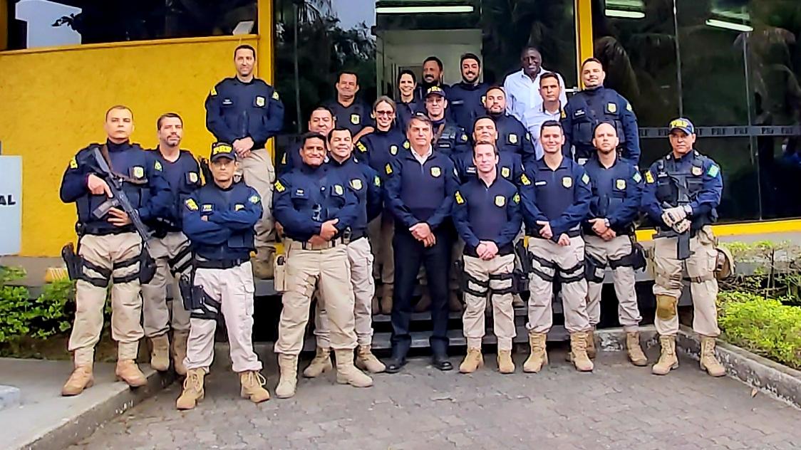 Jair Bolsonaro visita Unidade Operacional da PRF Barra Mansa-RJ
