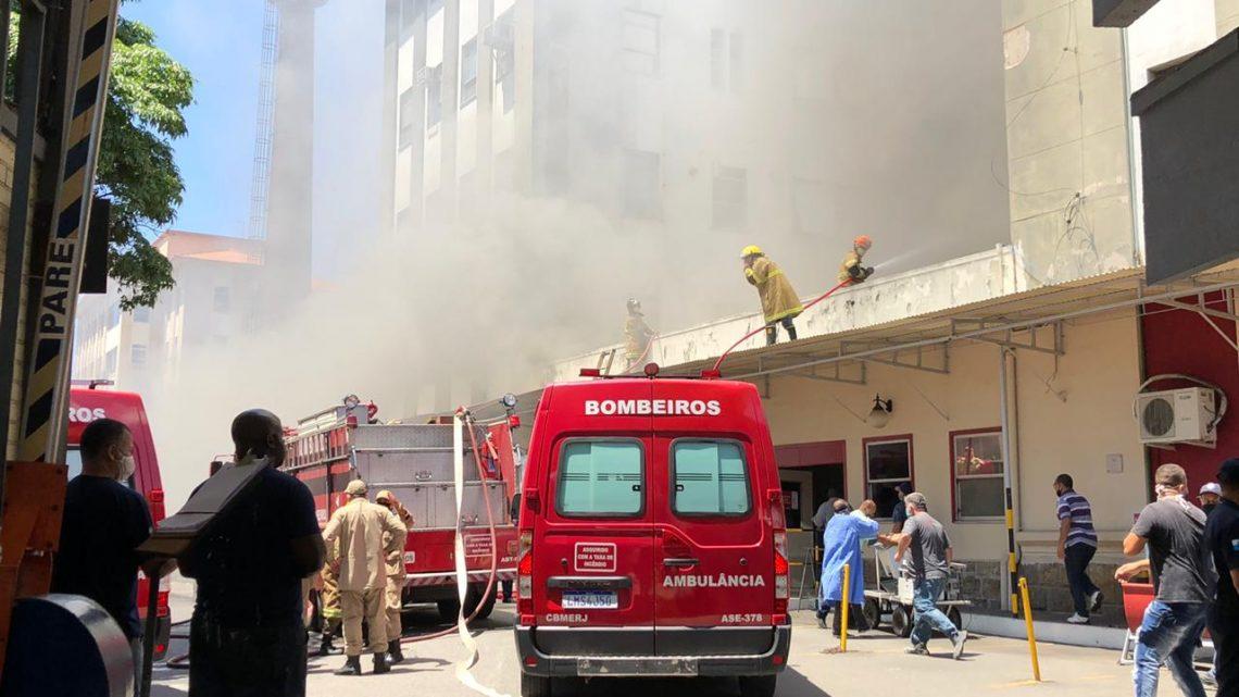 Incêndio atinge Hospital Federal de Bonsucesso, na Zona Norte do Rio