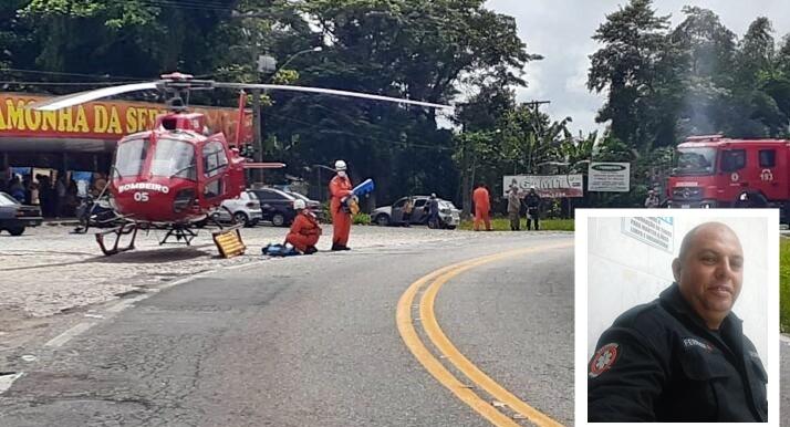 Funcionario da SAMU fica gravemente ferido na RJ-106 em Maricá-RJ