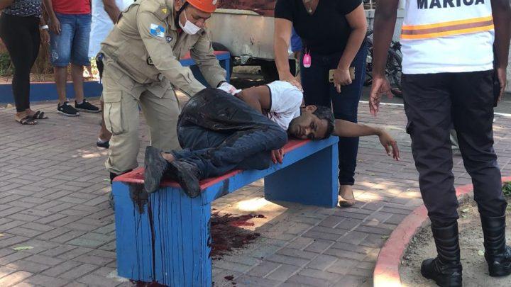 Homem é morto e outro fica ferido após uma briga no centro em Maricá-RJ