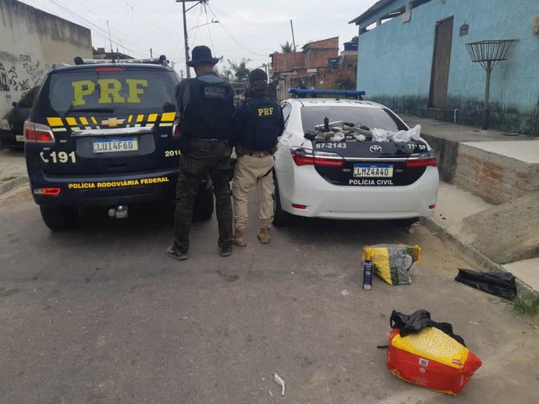 PRF e Polícia Civil cumprem mandados de prisão contra traficantes e ladrões de carga em São Gonçalo