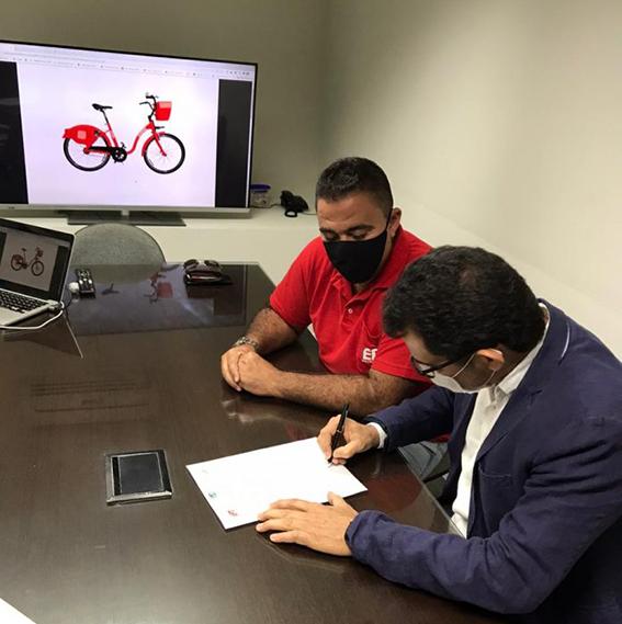 Prefeitura apresenta estação das bicicletas vermelhinhas da EPT nesta quinta em Maricá-RJ