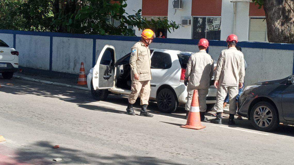 Bombeiros são acionados após vazamento de gás em veiculo em Maricá
