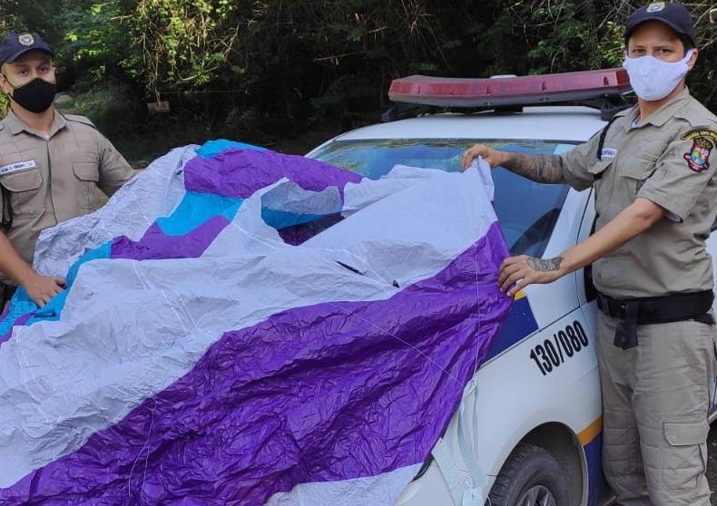 Balão de 3 metros é apreendido na Região Oceânica em Niterói
