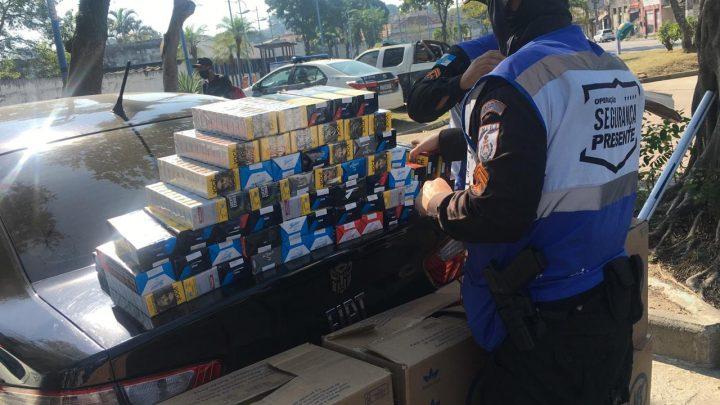 Dois homens são presos é carga de cigarro recuperada em São Gonçalo
