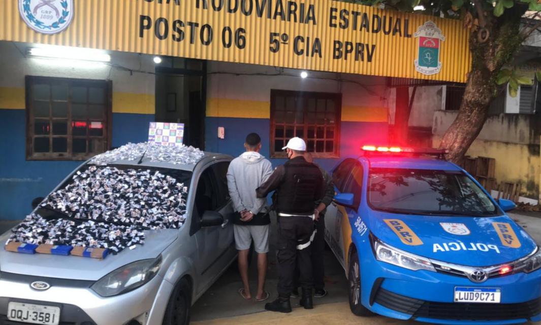 BPRv prende trio transportando uma carga de drogas com destino à Região dos Lagos