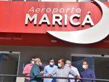 Fabiano Horta apresenta Aeroporto de Maricá a Axel Grael e Rodrigo Neves