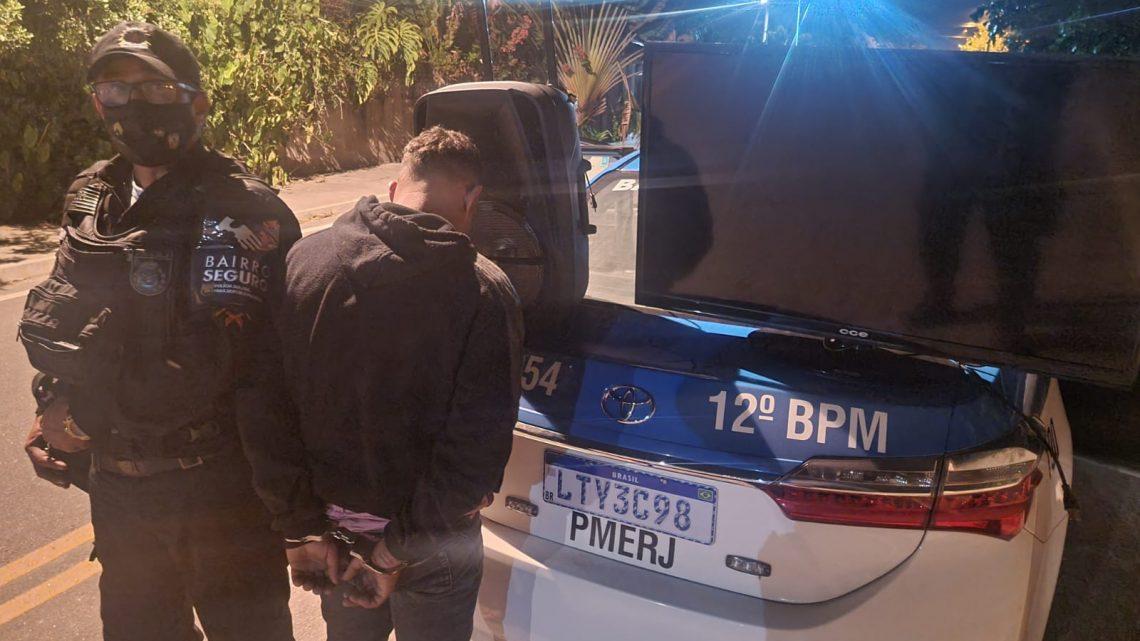 Homem é preso após furtar uma residência em Maricá