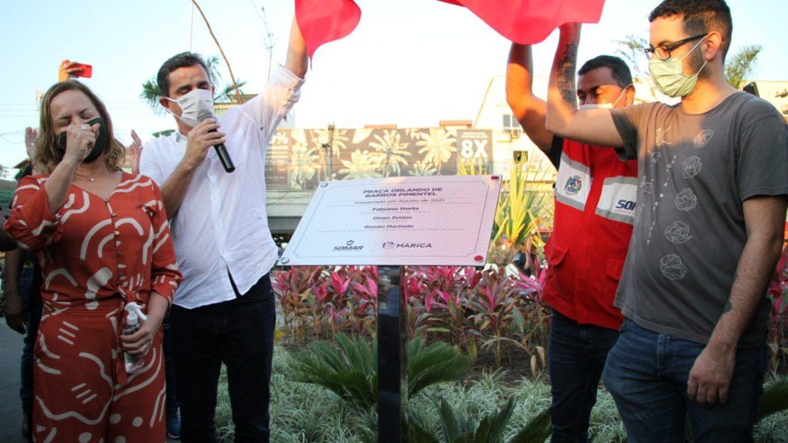 Emoção marca a inauguração da Praça Orlando de Barros Pimentel em Maricá