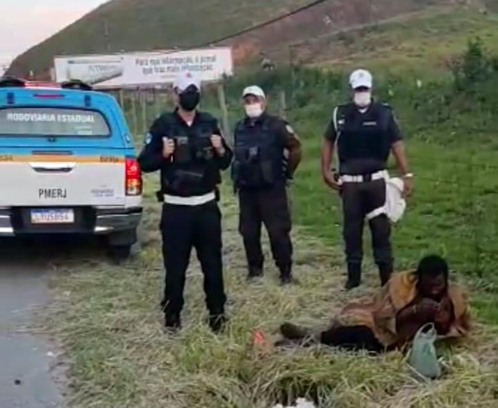 Homem que estava desaparecida e encontrado nas margens da RJ 106 em Maricá